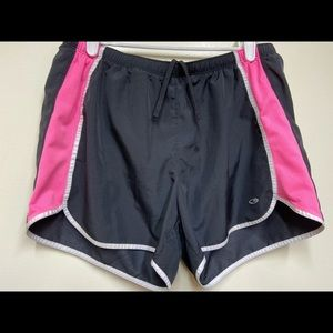 Champion pink running shorts m